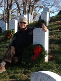 Susan at  Arlington Cemetery